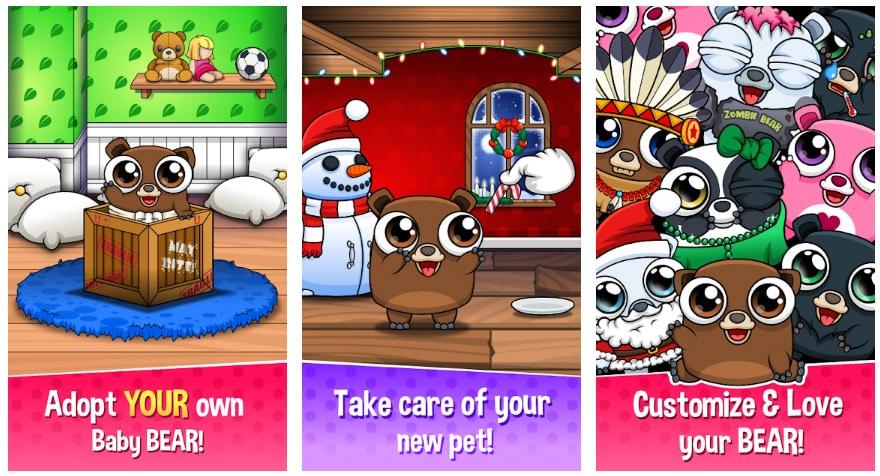 happy bear mascotas virtuales