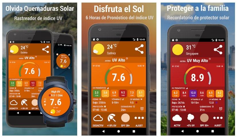 índice uv radiación solar