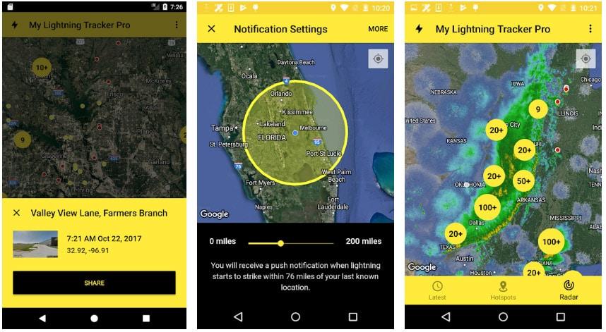 my lightning tracker apps alertas