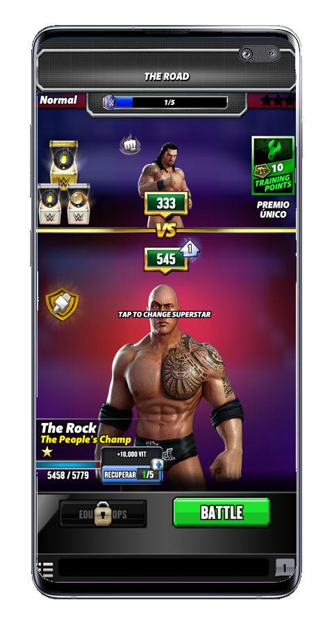 Inicio combate en WWE Champions 2020