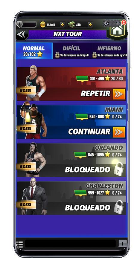 Competiciones en el juego WWE Champions 2020