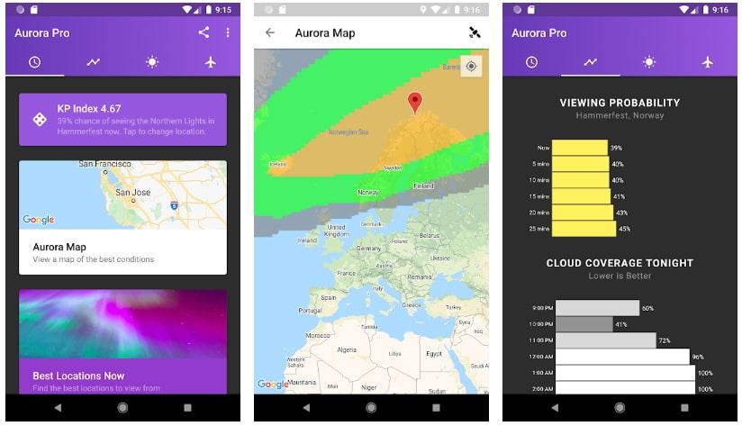 apps útiles fotografía my aurora forecast