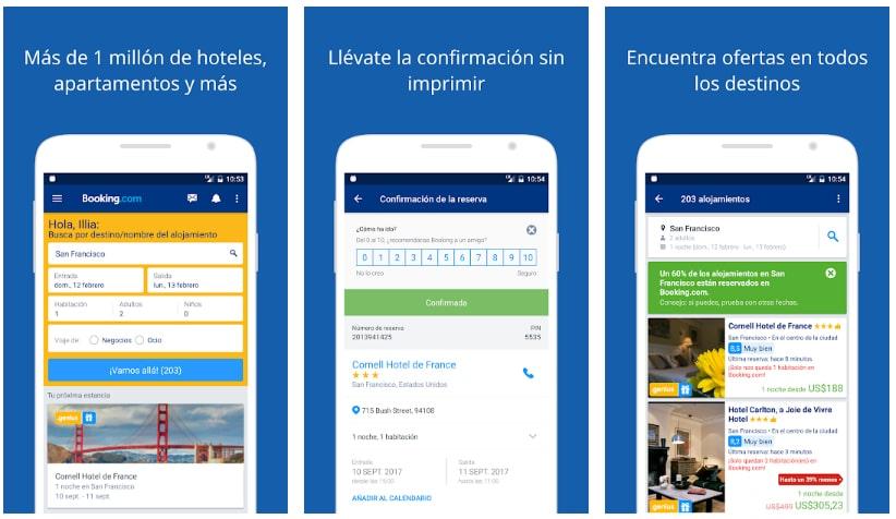 booking apps útiles viajar