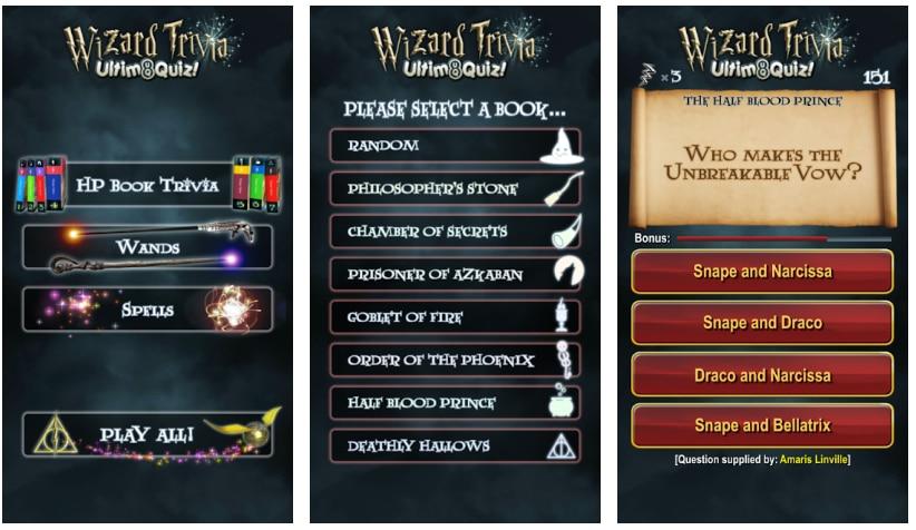 juegos harry potter wizard trivia