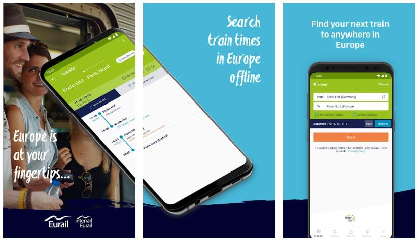 interrail rail planner apps útiles viajar europa