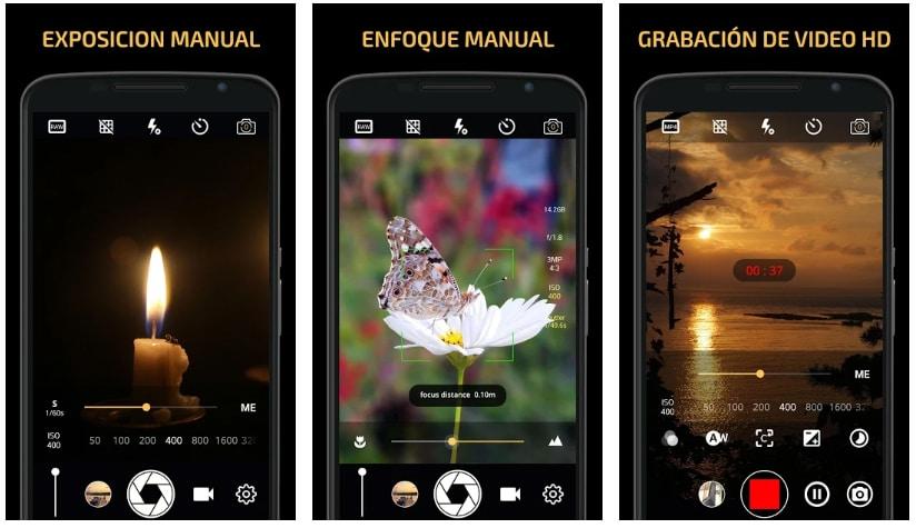 apps útiles fotografía manual camera