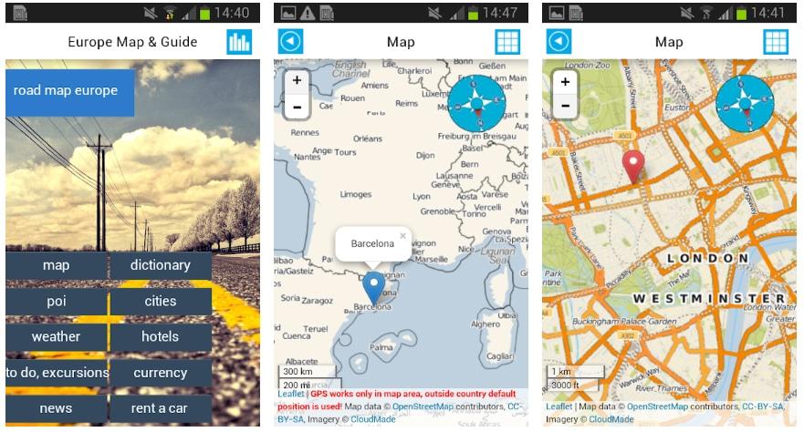 mapa europa online apps útiles viajar europa
