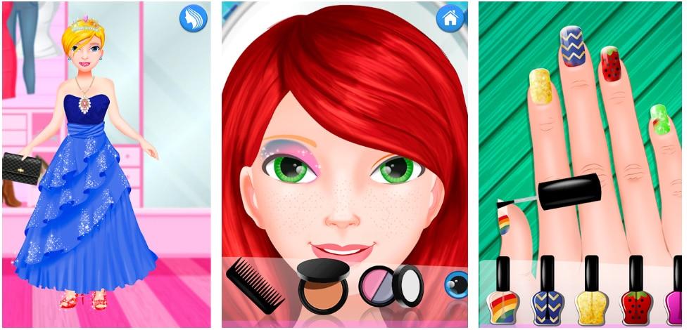 maquillaje vestir princesas