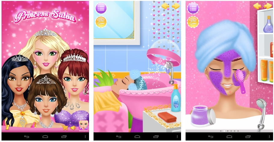 princess salon juegos de vestir y maquillar
