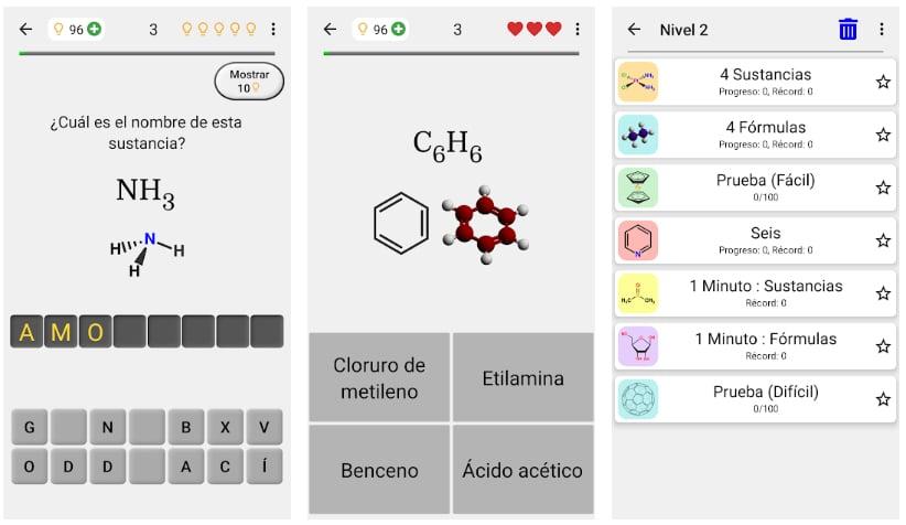 sustancias químicas juegos de química