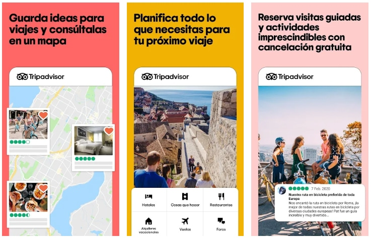 tripadvisor apps útiles viajar