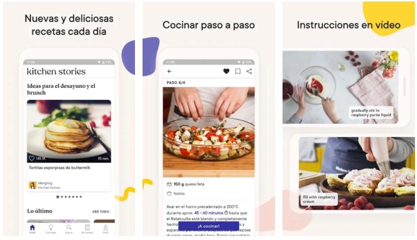 kitchen stories apps para crear recetas