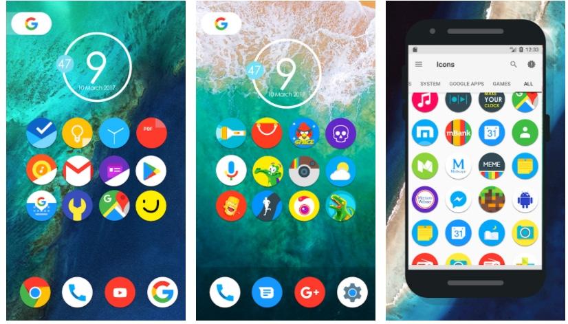pixel nougat icon pack apps gratis semana 35