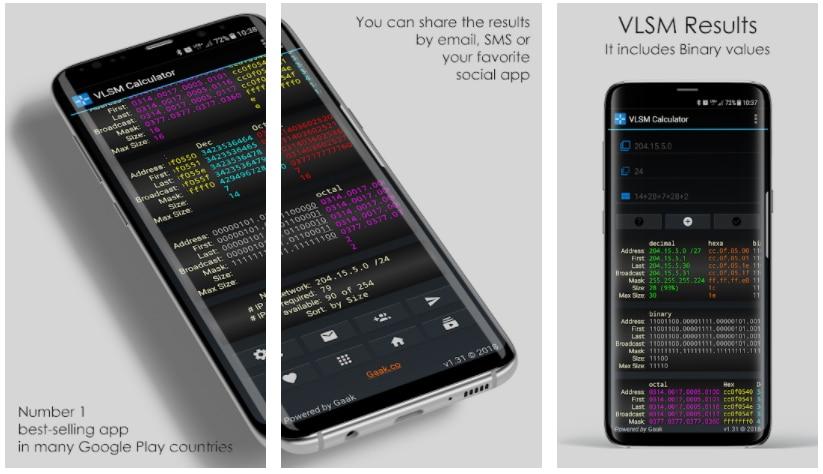 vlsm calculadora apps gratis semana 36