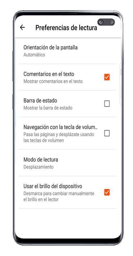 Ajustes de la aplicación Wattpad