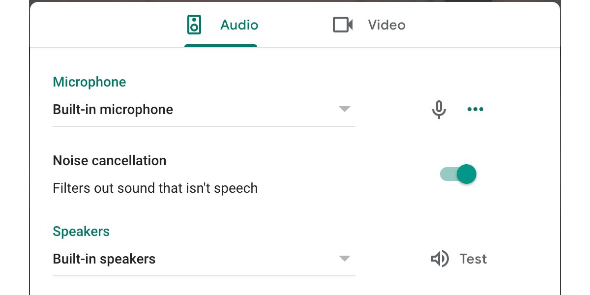 google meet cancelación de ruido