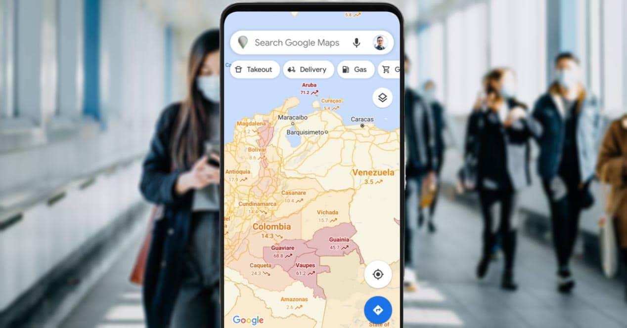 activar capa covid 19 google maps