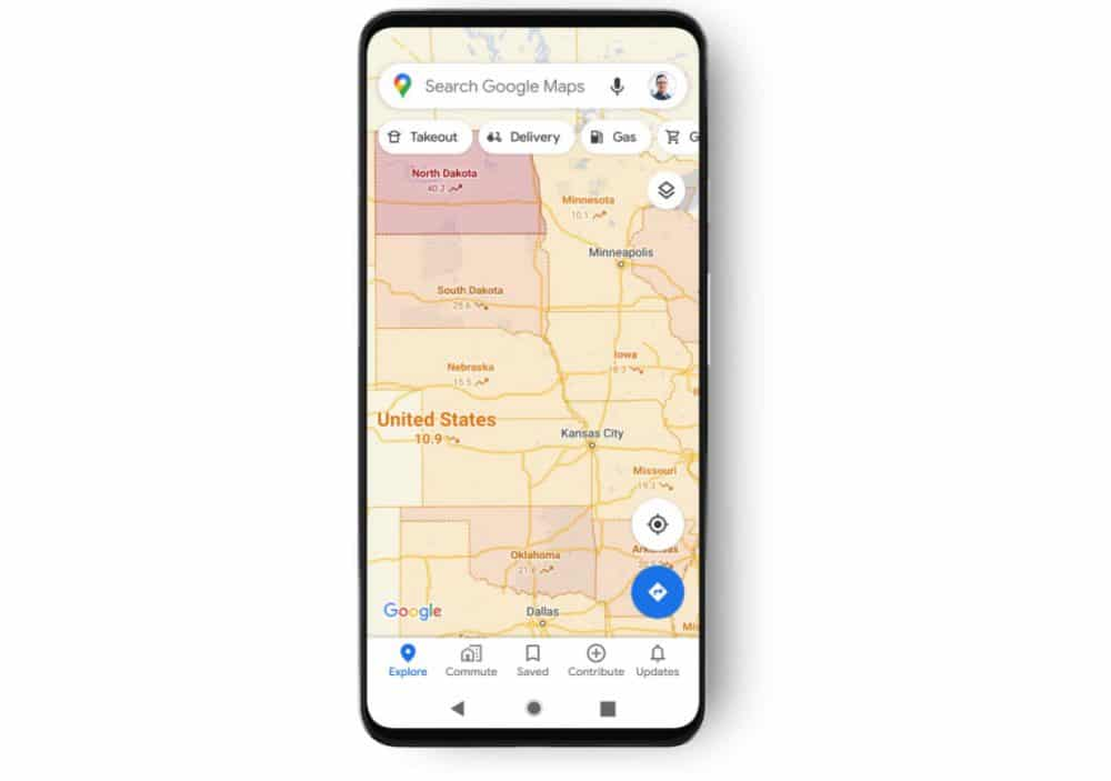 capas covid-19 google maps información casos