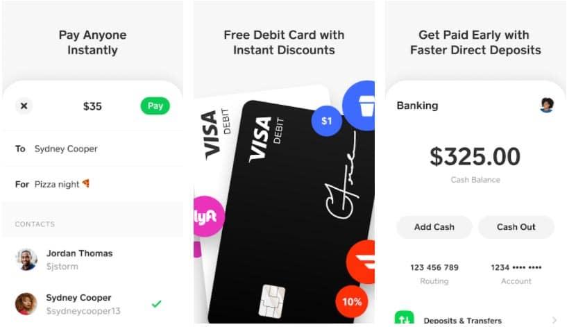 cash app apps para enviar dinero