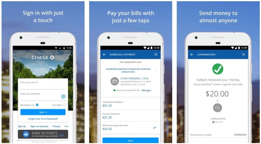 chase mobile apps para enviar dinero