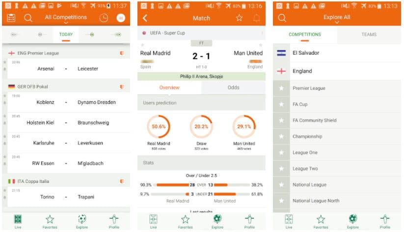 fútbol 24 apps de fútbol