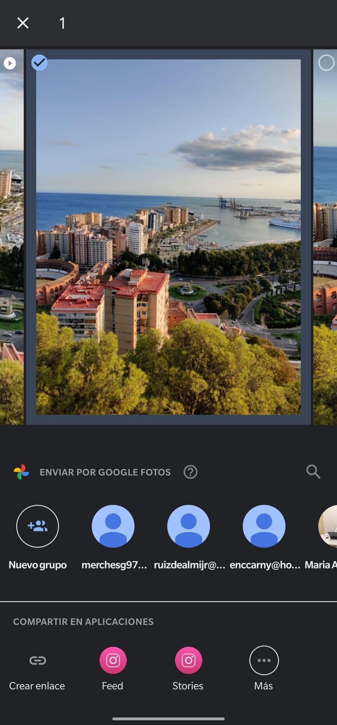 google fotos actualización menú compartir