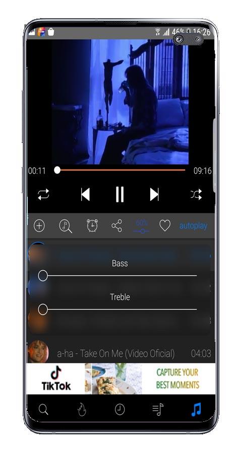 Opciones de uso de iTube