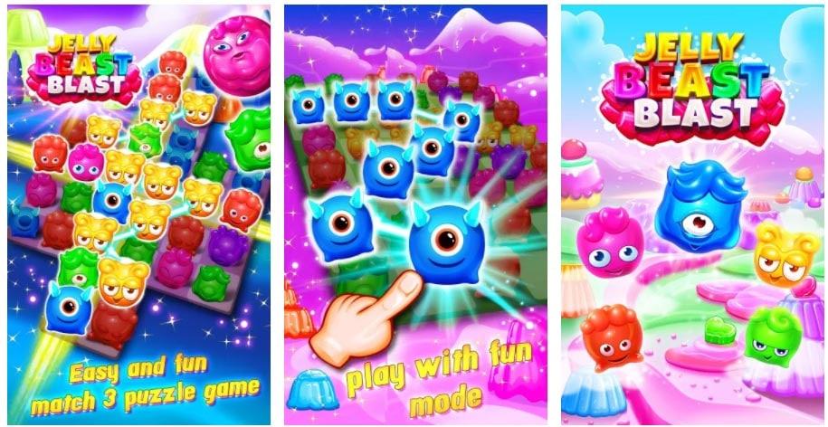 jelly beast blast juegos parecidos a candy crush