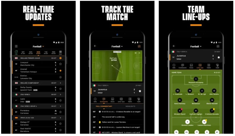 livescore sport apps de fútbol
