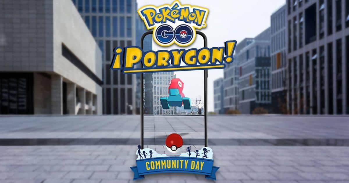 porygon día de la comunidad