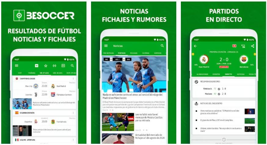 resultados fútbol apps de fútbol