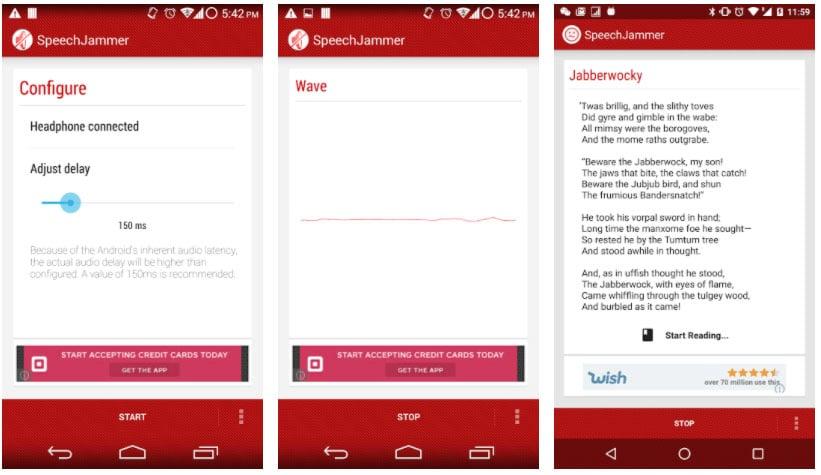 speechjammer apps para hablar en público