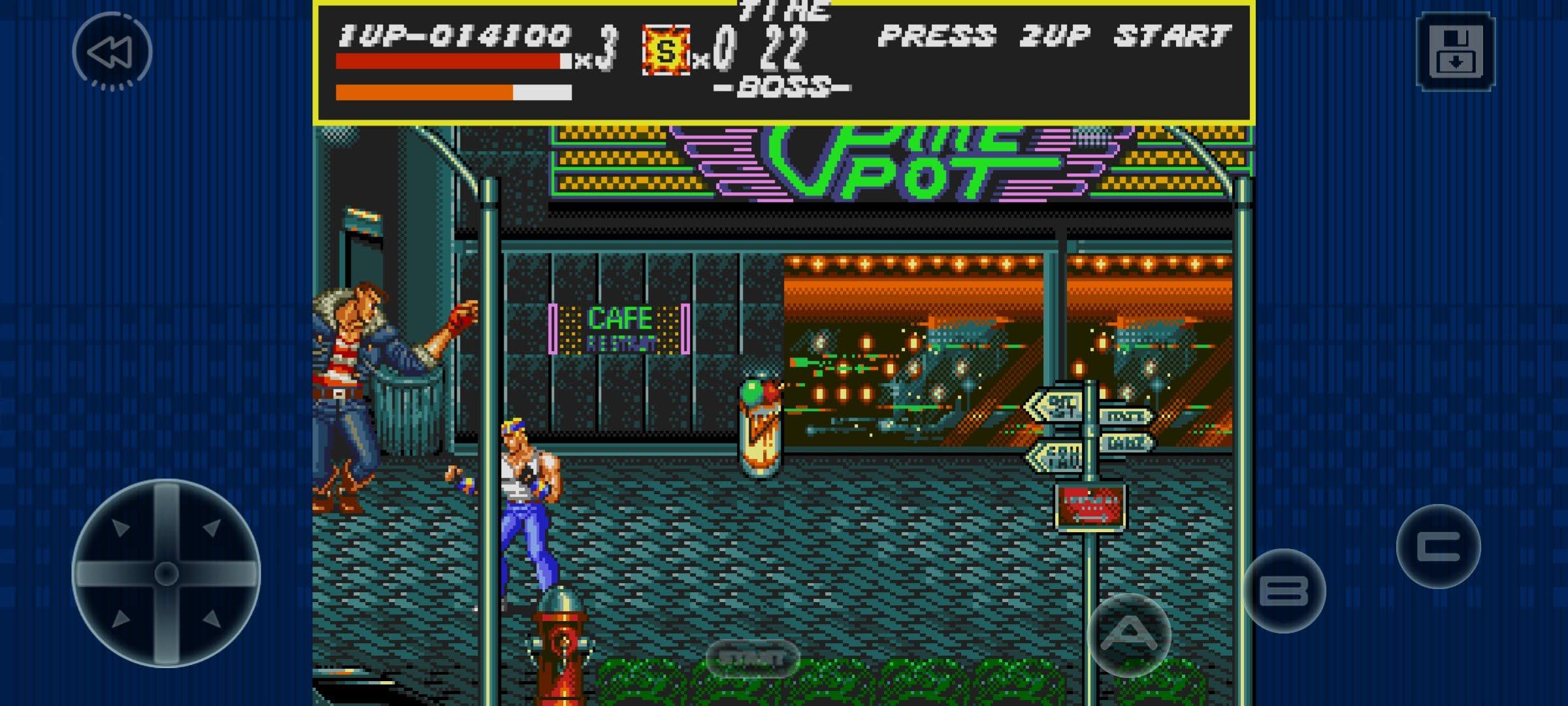 street of rage gameplay