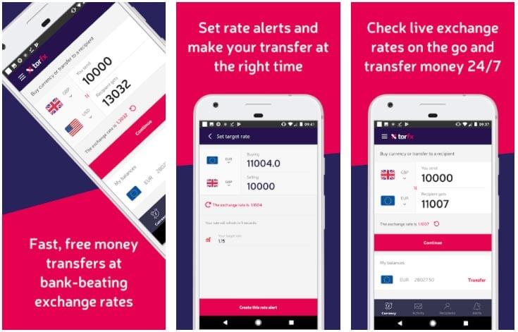 torfx apps para enviar dinero