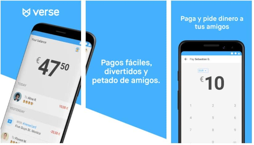 verse apps para enviar dinero