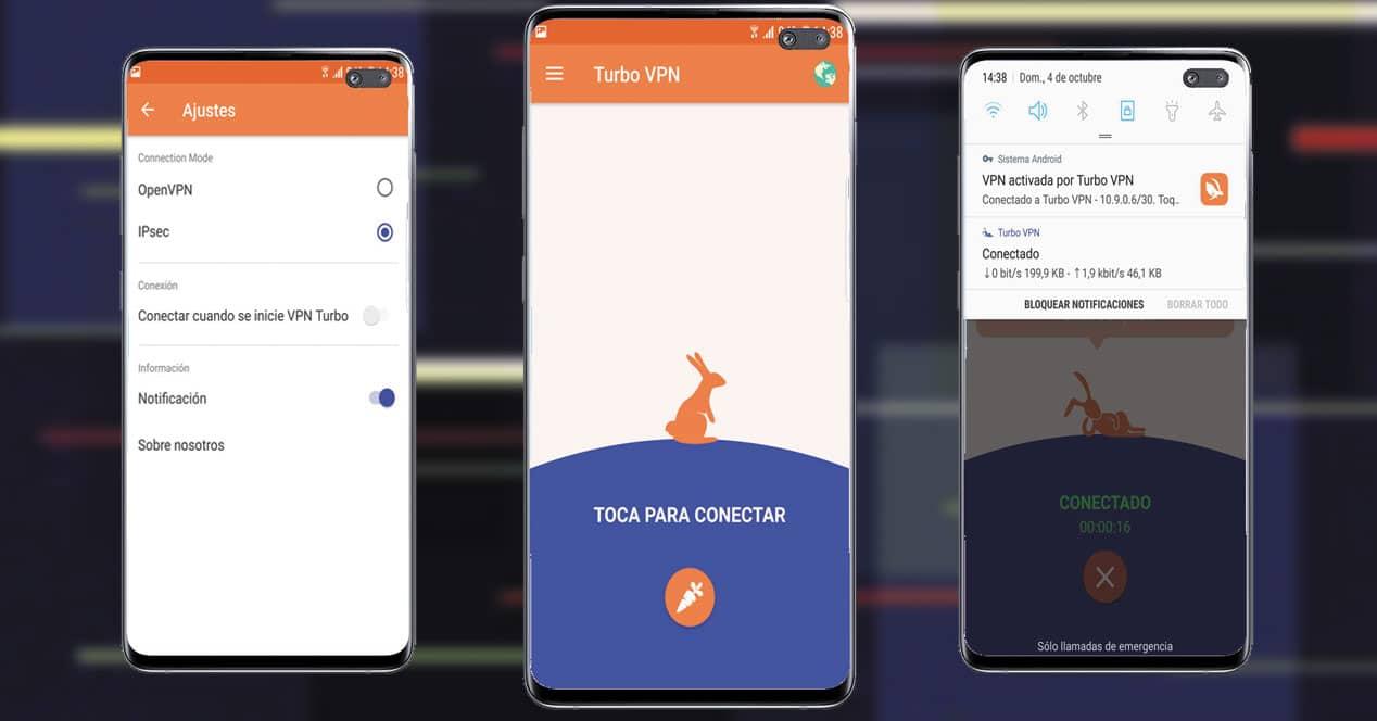 Imágenes de la aplicación Turbo VPN