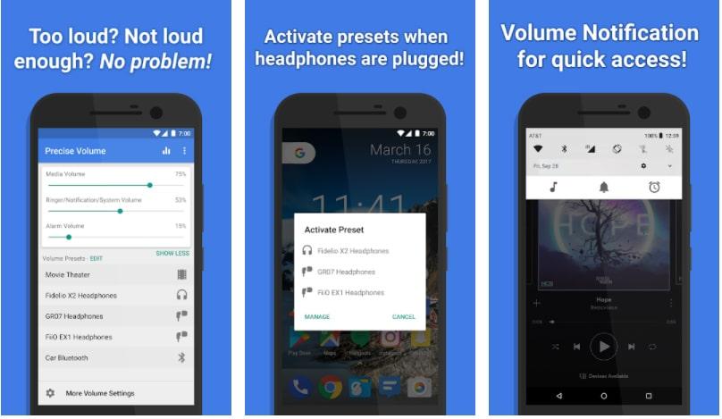 precise volume apps controlar volumen