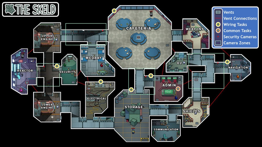 mapa the skeld among us