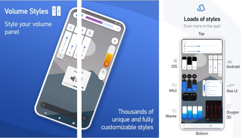 volume styles apps controlar volumen