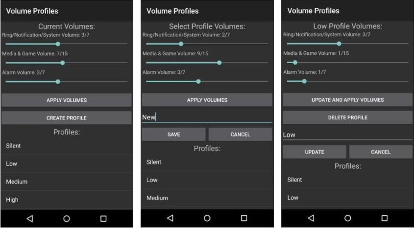 volume profiles apps controlar volumen