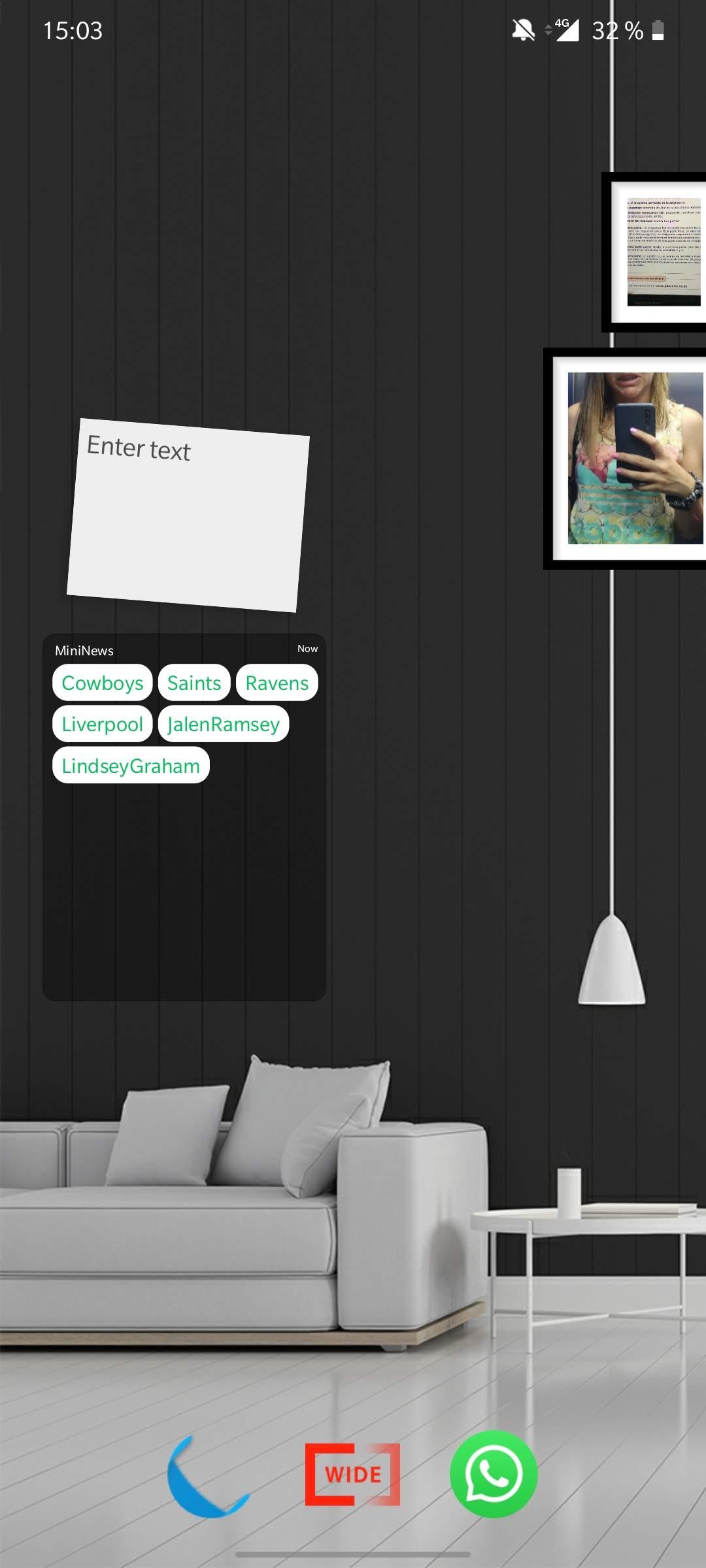 wide launcher personalización