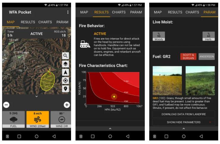 wildfire analytics apps incendios
