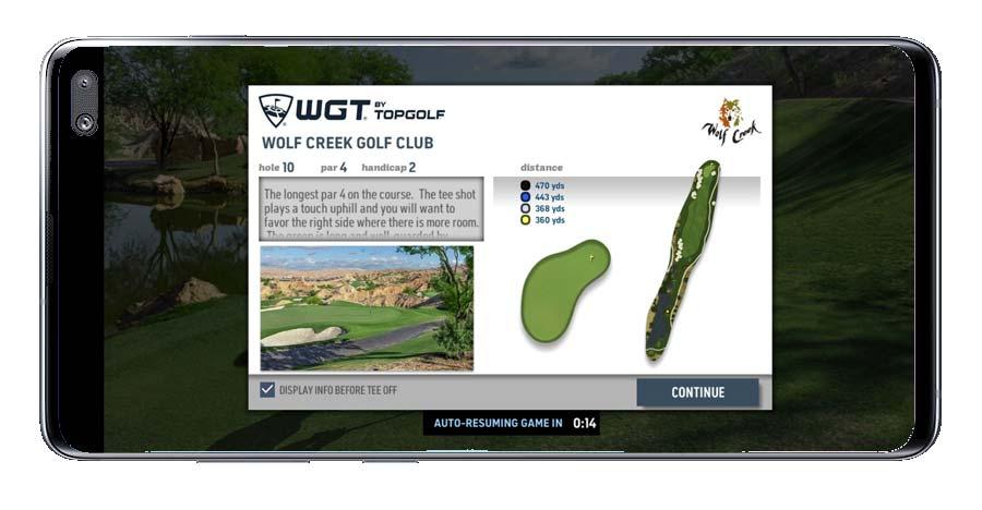 Partida online en WGT Golf