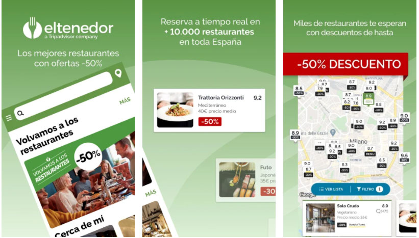 el tenedor apps útiles restaurante