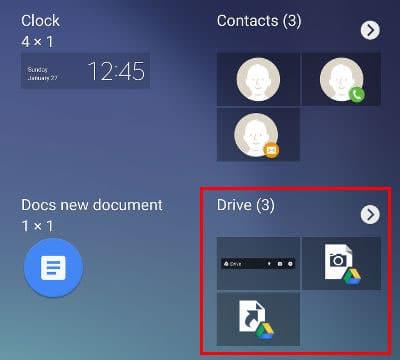 google drive escáner widgets android