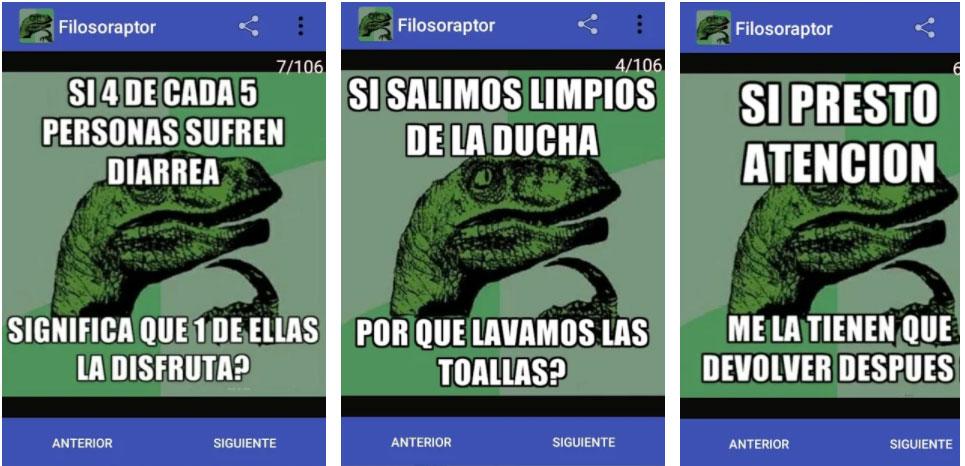 filosoraptor apps chistes