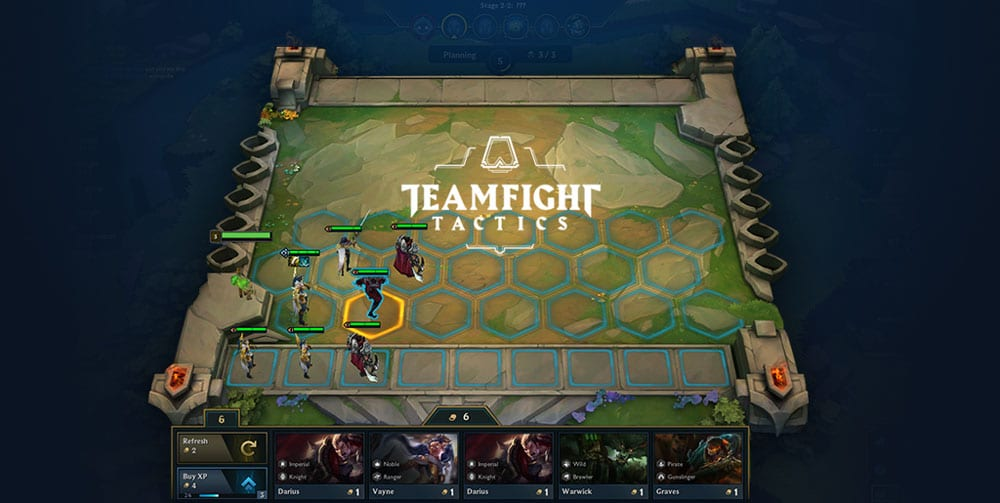 mini leyendas teamfight tactics partida