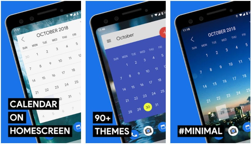 month widgets android