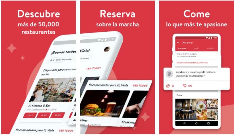opentable apps útiles restaurante