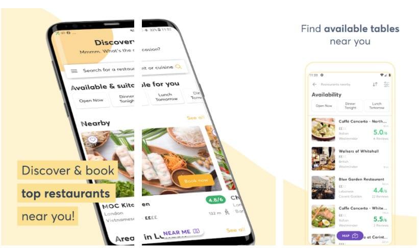quandoo apps útiles restaurante